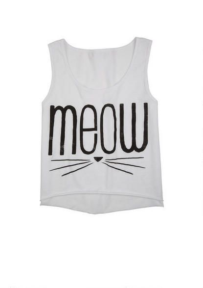 Meow Whiskers Tank - Graphic Tees - Tops - dELiA*s