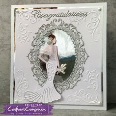 Square card created using Sara Signature Glamour Collection - Dressed to Impress. Designed by Linda Fitzsimmons #crafterscompanion