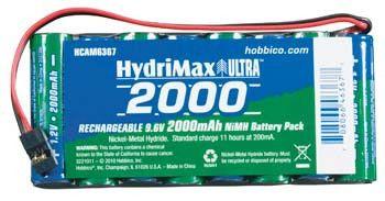 HydriMax NiMH 8C 9.6V 2000mAh Flat Tx U Conn