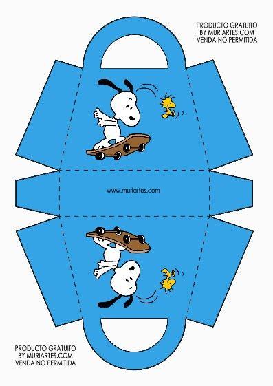 Caja-bolsa Snoopy