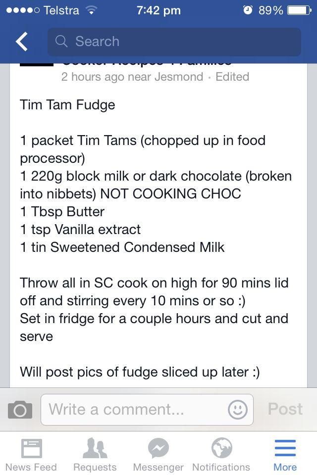 Tim Tam Fudge
