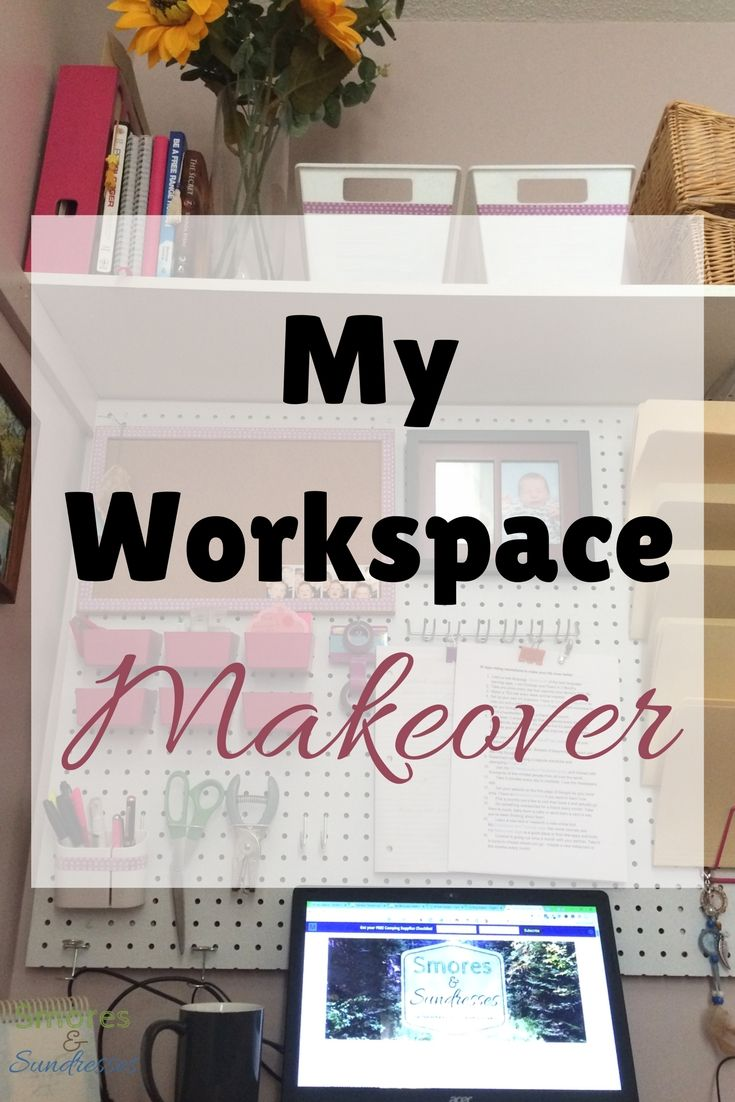 Smores & Sundresses - My Workspace Makeover Using Pegboard