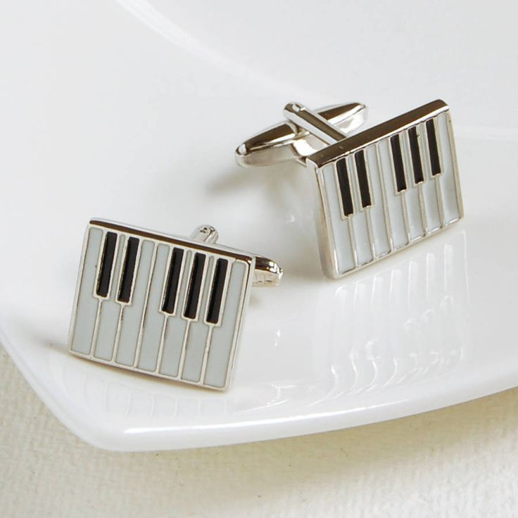Piano Cufflinks and engraved box option £16