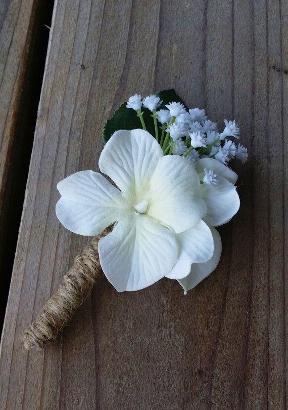 hortensia fleur la boutonni re hortensia ivoire avec. Black Bedroom Furniture Sets. Home Design Ideas