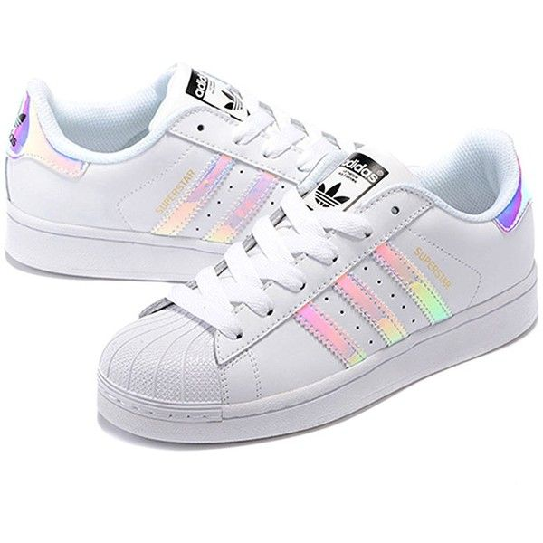 adidas Originals Women's Superstar W Fashion Sneaker (7.5 B(M) US,... ($84) ❤ liked on Polyvore featuring shoes, sneakers, adidas, wide shoes, adidas originals shoes, adidas originals, adidas originals trainers and adidas originals sneakers