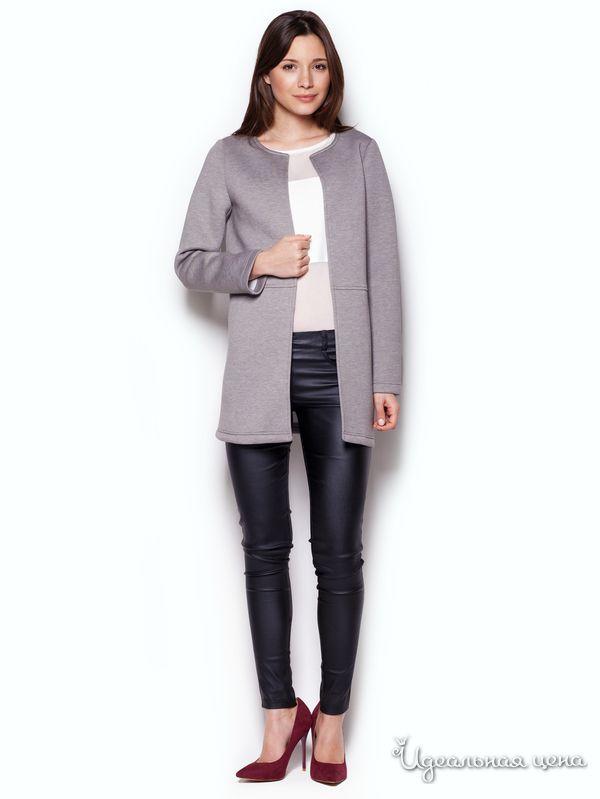 Жакет Figl, цвет серый   Старые добрые кардиганы   Идеальная цена