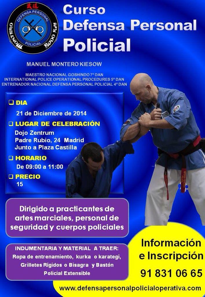 Curso de Defensa Personal Policial en # Madrid