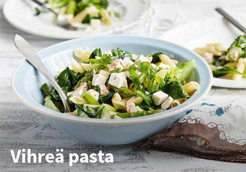 Vihreä pasta, Resepti: Valio #kauppahalli24 #valio #vihreä #pasta #pastaruoka #ruoka #resepti #arkiruoka