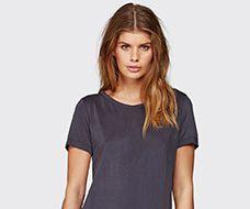 Cupro grijs shirt - Minimum - www.thelittleblackdress.nl
