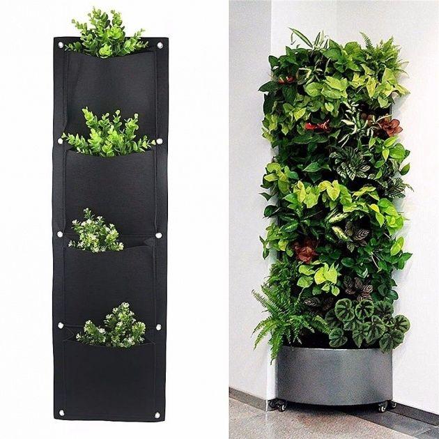 Wall Pocket Planter In 2020 Garden Wall Designs Vertical Garden Diy Wall Garden