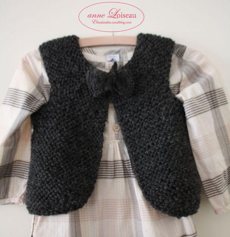 Tuto tricot : Gilet de petite bergère