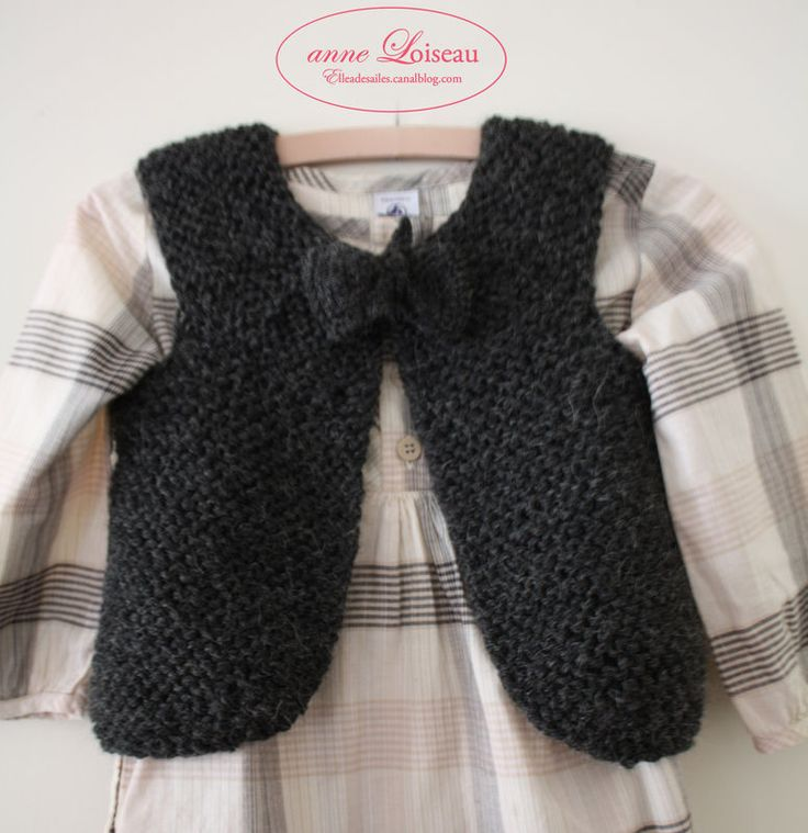 A tricoter Anne Loiseau : Gilet de berger / bergère @raphaellemalaspina