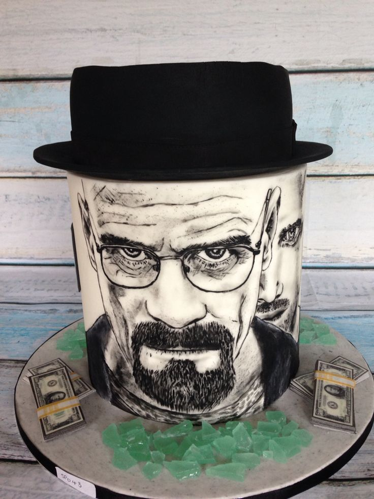 Breaking Bad Cake. Hand painted cake.