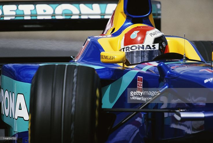 Johnny Herbert of Great Britain drives the #15 Red Bull Sauber Petronas Sauber C17 Petronas V10 during the Molson Canadian Grand Prix on 7th June 1998 at the Circuit Gilles Villeneuve Montreal, Canada..