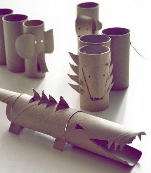 Animais de rolo papel higienico