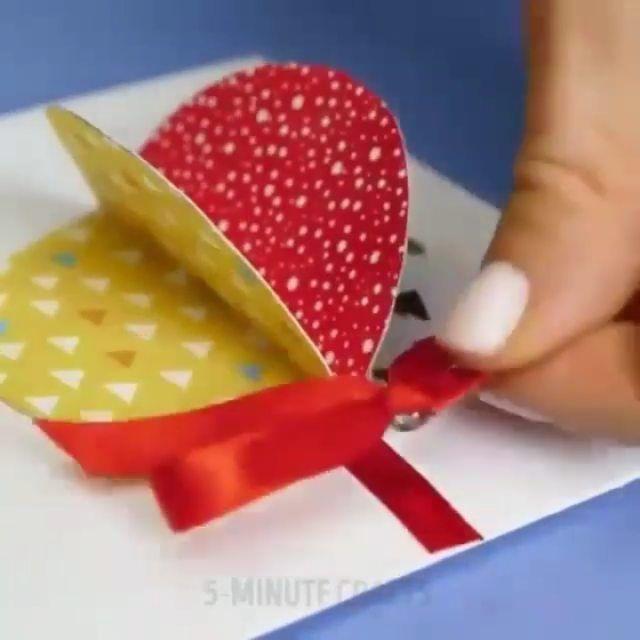Lifehack Lifehacks Diy Follow Lifestyle Love Art Tips Motivation Tutorial Life Inst Diy Holiday Cards Christmas Card Crafts Christmas Cards To Make
