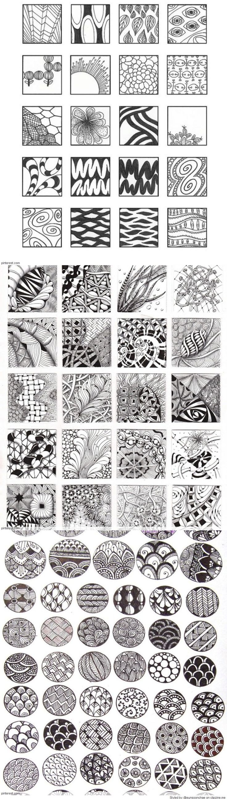 Zentangle Patterns & Ideas