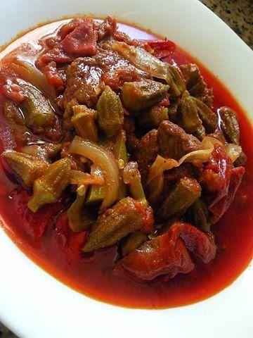 Recette 100% Tunisienne: Market Gnawiya – Ragoût de gombos – مرقة قناوية (quiabos)