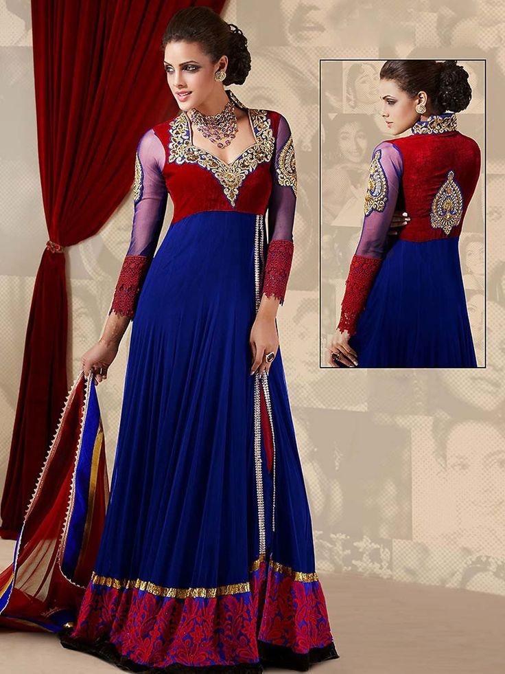 Every woman would want to drape this ensemble to get more beautiful looks.  Item Code: SLANA717 http://www.bharatplaza.com/new-arrivals/salwar-kameez.html