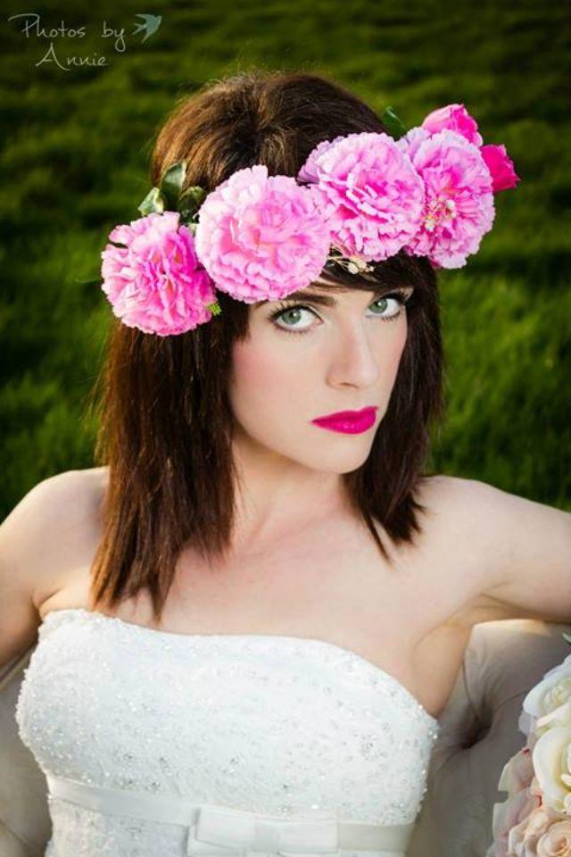 Pink head flowers and lips!!www.photosbyannie.ie