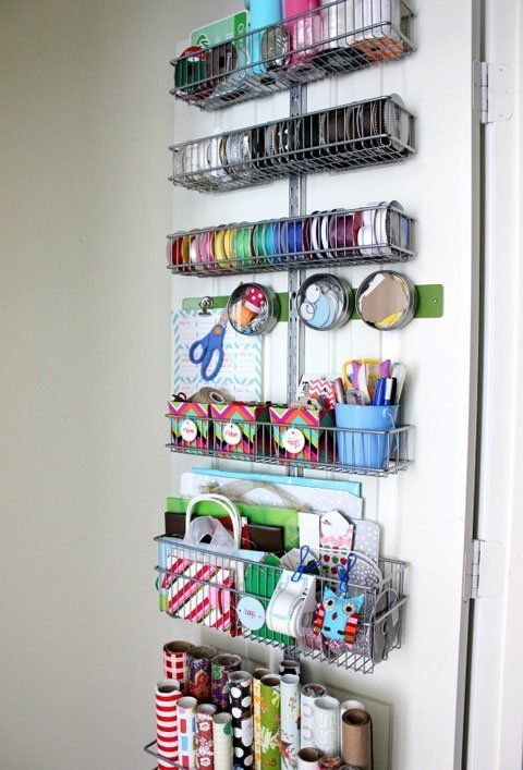 Love this!!! One day.... 10 Inspiring Back-of-the-Door Storage Solutions | Apartment Therapy