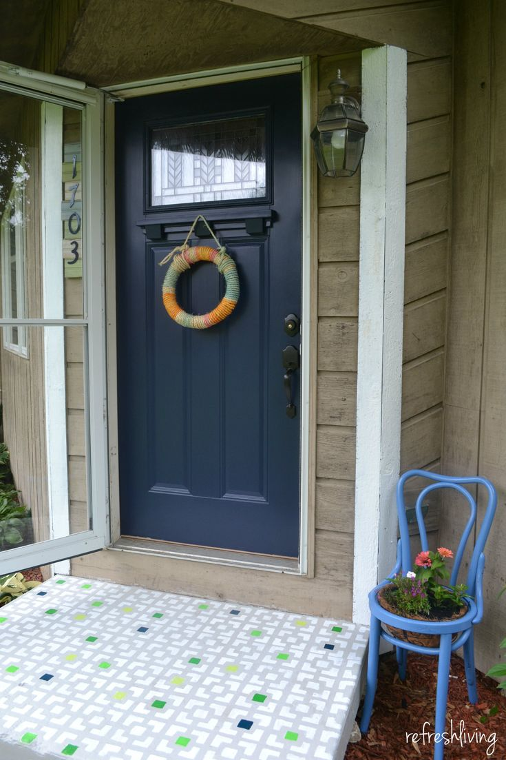 Front Porch Update With Modern Masters Paint Door Paint