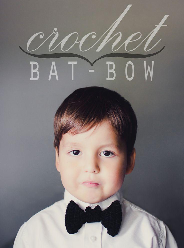 crochet: bat bow! | goodknits.com/blog | Lisa Gutierrez | Flickr