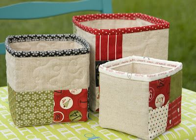 Adorable Zakka Style Nesting Boxes from Kati and an Aurifil giveaway! Visit Kati's blog to enter http://www.fromthebluechair.com/2012/09/nesting-boxes-final-week-of-zakka-sew.html
