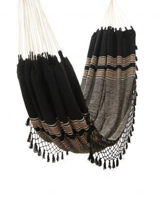 Travel + Leisure Global Bazaar Store, Black Wayuu Hammock - SUN &