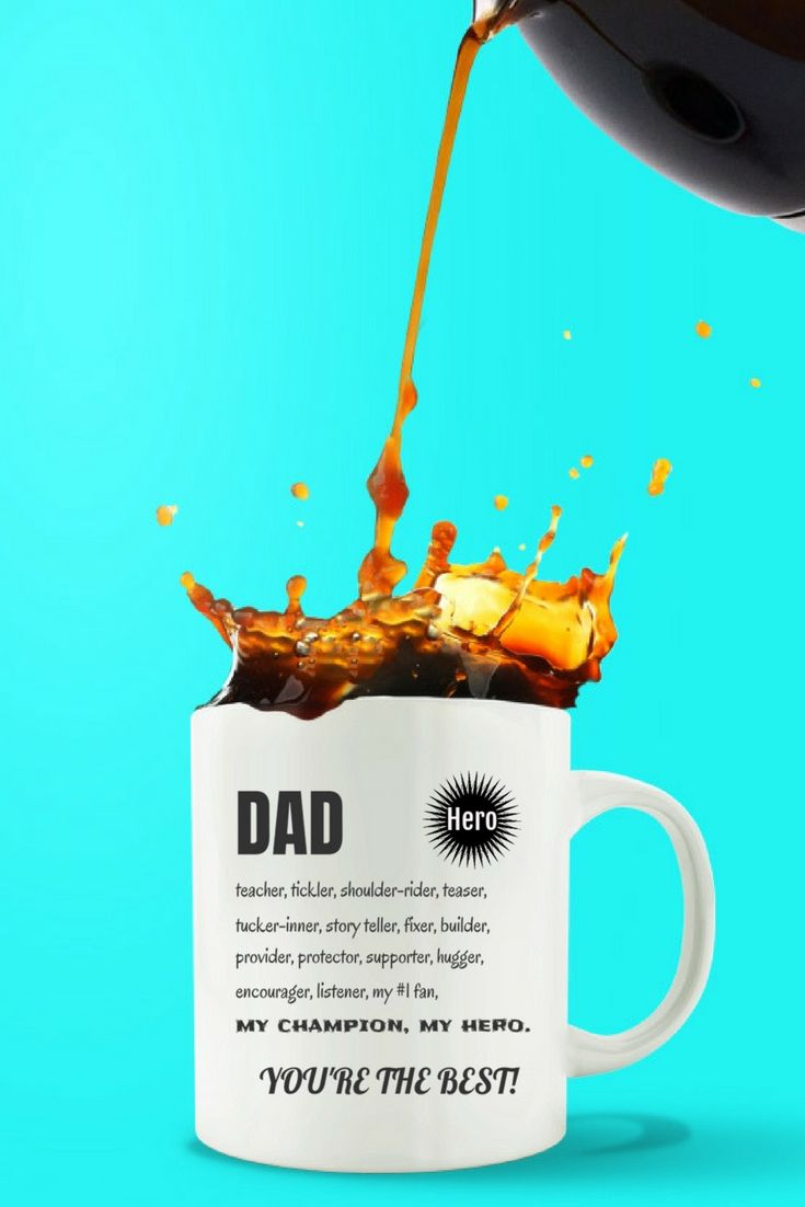 DAD My HERO Coffee Mug. For every great Dad and Step-Dad. Check it out!