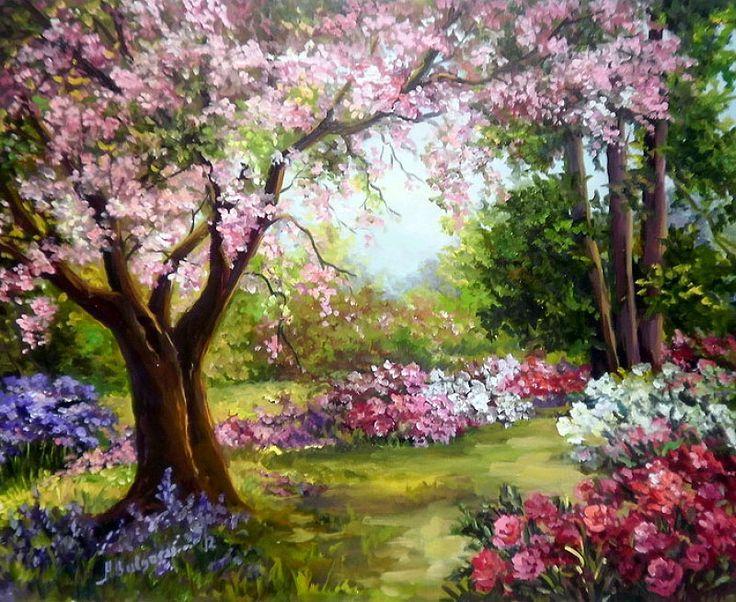 Весна картинки красивые маслом