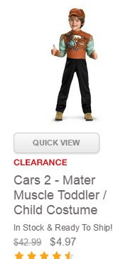 Halloween Costume Clearance ~ As Low as $.85