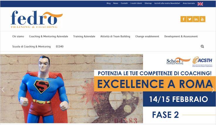 Web design del sito Fedro. Settore: coaching e training. http://www.fedro.it/
