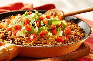 One-Pan Taco Dinner recipe - Quick last minute weekday dinner