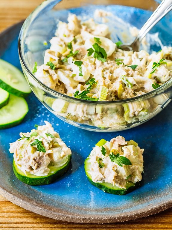 Using canned tuna in a tuna salad is a great Paleo go-to when you're short on cooking time.