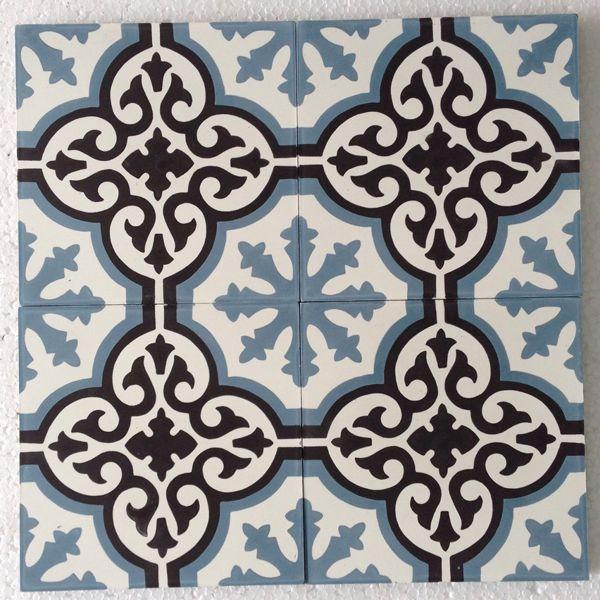 carreaux de ciment modèle CH-29 - I would love these tiles as a bathroom wall :)