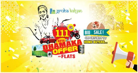 GRUHAKALYAN BIG SALE Opportunity for Home Buyers 111 GIFTS DHAMAKA OFFER on FLATS Visit:www.Gruhakalyan.com Call: 9148974213 , 7338667107 , 7338667134 , 7338667104