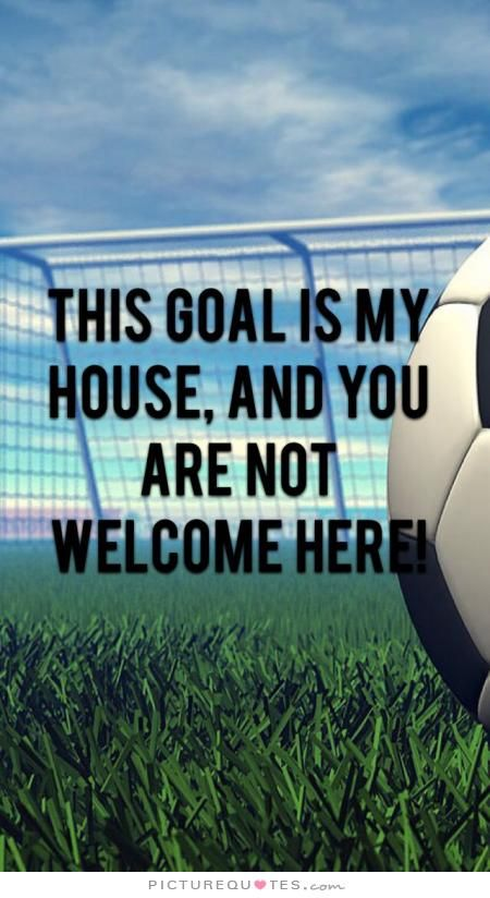 This goal is my house, and you are not welcome here ...