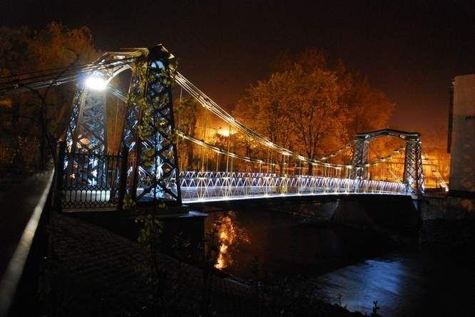 Najstarszy most wiszący w Europie....Ozimek