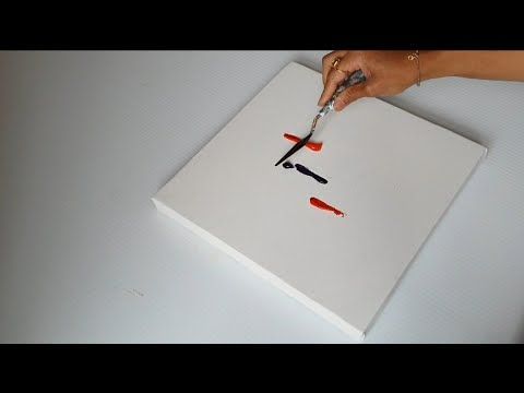 Abstract art / Abstract painting / Acrylic paints and palette / Textbook / Painting demo – YouTube