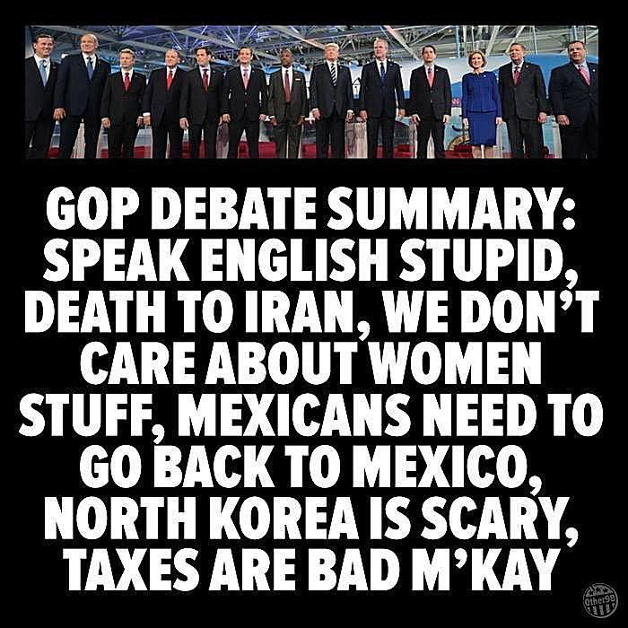 Funny Memes Skewering the 2016 GOP Candidates: GOP Debate Summary