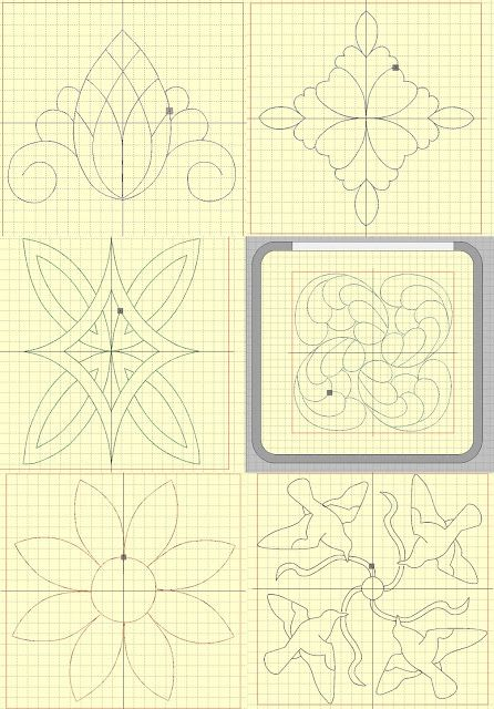 Quiltmuster Ananas Voegel Sonnenblume