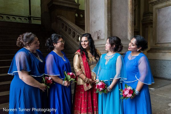 Indian bridal party in blue. http://www.maharaniweddings.com/gallery/photo/137701