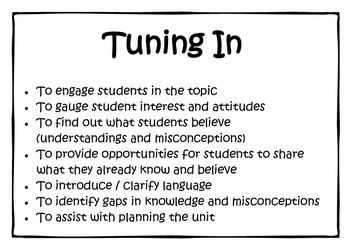 A series of posters outlining the purpose for each stage of the Inquiry Model, as outlined by Jeni Wilson and Kath Murdoch....