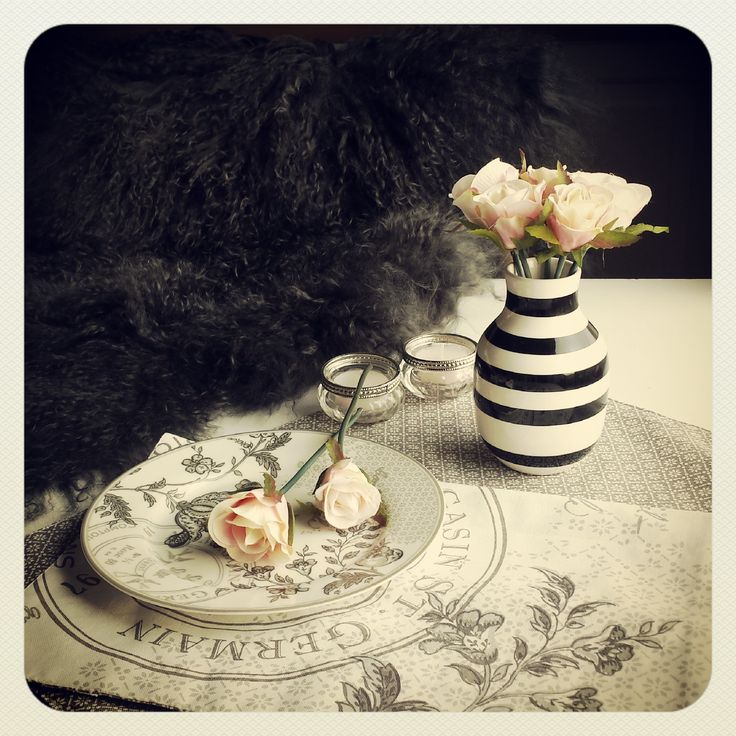 Greengate, ommagia, vase, rose