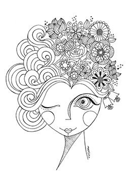 Free illustation/coloring page - Pri Sathler • Illustrator