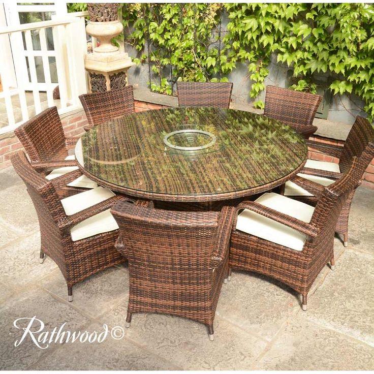 Rattan Garden Furniture, Round Wooden Garden Table And Chairs Ireland