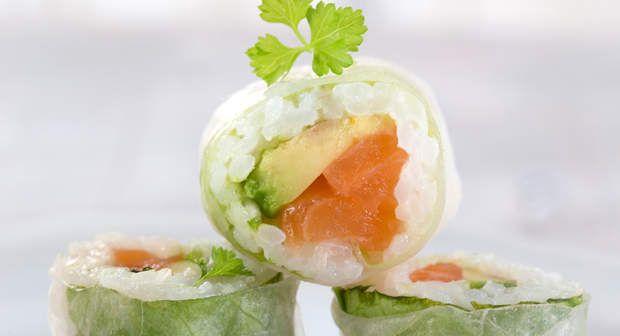 Maki saumon avocatVoir la recette du Maki saumon avocat >>