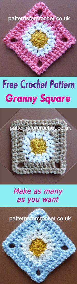 Square motif   use for blankets etc.   free crochet pattern   #crochet