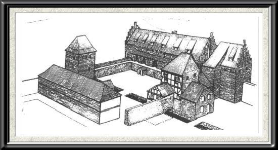 Rekonstrukcja lub stary widok zamku lebork 2
